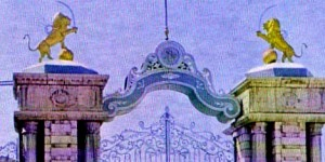 GATE OF IRANIAN PARLIAMENT DURING MID TWENTIETH CENTURY